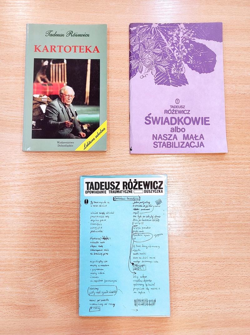 Zdjęcie książek Tadeusza Różewicza
